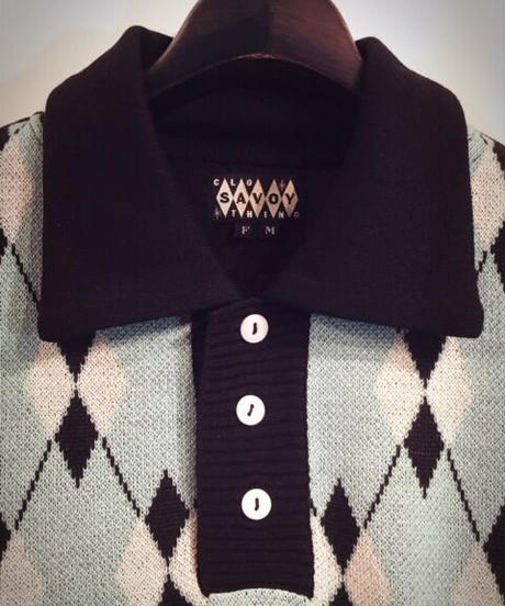 Argyle Pullover Knit(Men's Free)【SVY-MKN006】