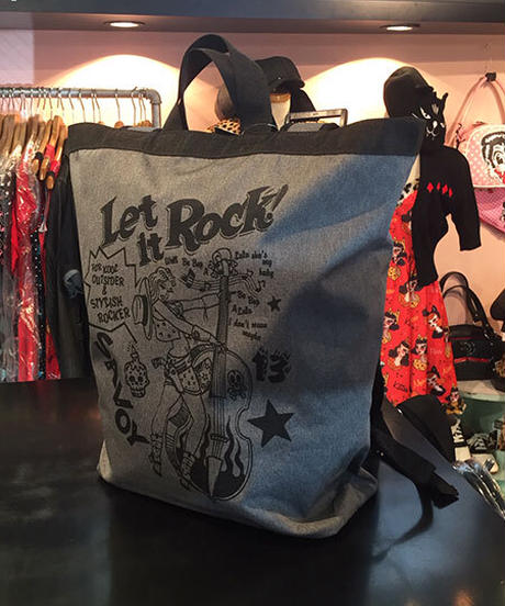 Let It Rock Large Daypack【SVY-BG048】