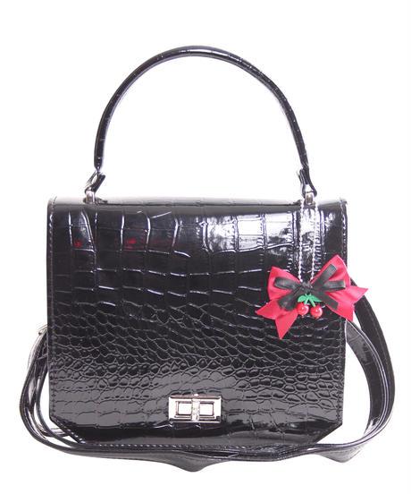 Arjona 50s Retro Crocodile Patent Handbag【5151 】