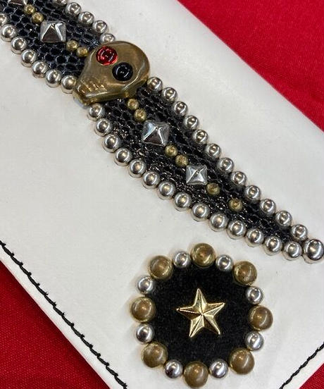 Juel Studs Leather Wallet【CJ-WLT001】 Outlet