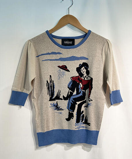 Chrissie Rodeo Dancer Knitted Top【SS210122A】
