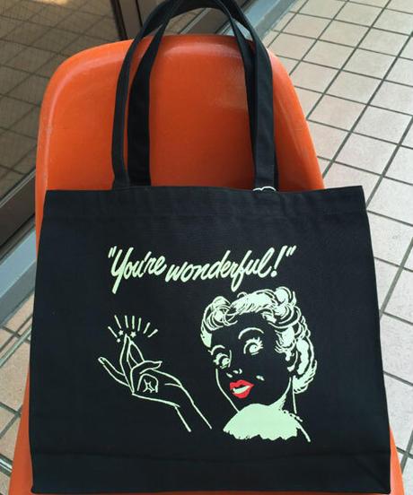 You're Wonderfulキャンバストートバッグ【SVY-BG037】
