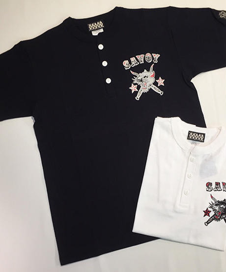 Savoy Panther Henley nec Tee【SVY-T256】