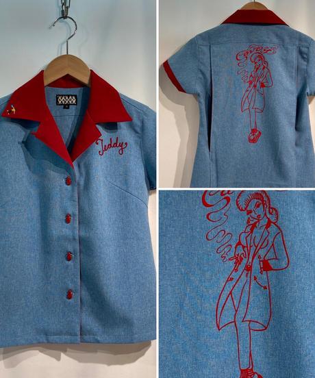 Teddy Girl Ladies Bowling Shirts【SVY-LSH111】