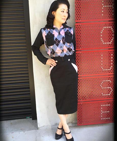 Harlequin TwoTone Ladies Shirts Blouson【SVY-LSH083】