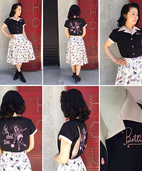 It's About Ladies Bowling Shirts【SVY-LSH088】