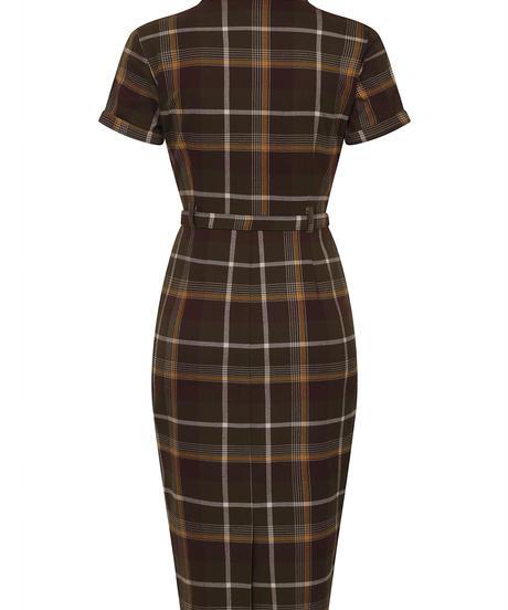 Caterina Mosshill Check Pencil Dress【AW200718A】
