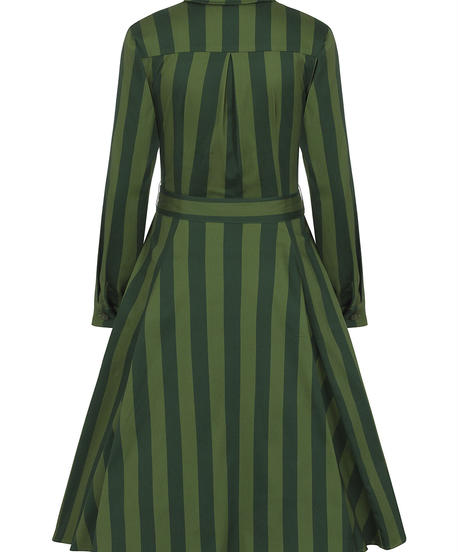 Mara Garden Stripes Swing Dress【AW200846A】