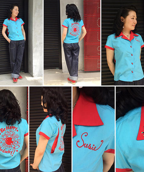 Susie Ladies Bowling Shirts【SVY-LSH091】