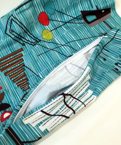 Mid-Century Modern Cushiion Cover(Geometric Design Turquoise)【NB-HW006】
