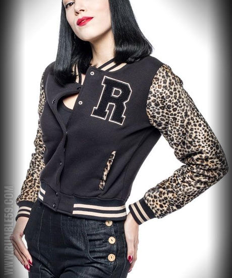 Ladies Leo Patch Sweat College Jacket【RUM452】
