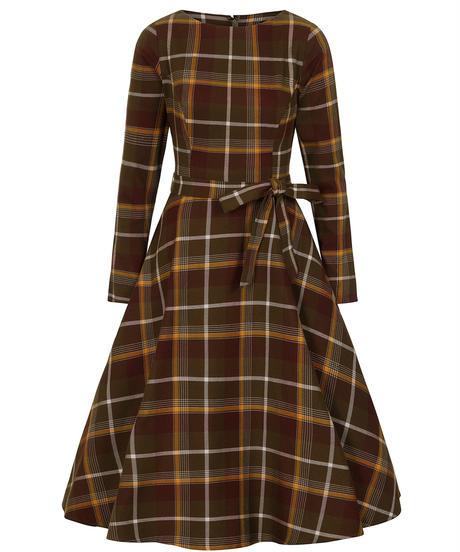 Arwen Moss hill Check Swing Dress【AW200822A】