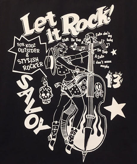 Let It Rock Canvas Big Tote Bag【SVY-BG046】