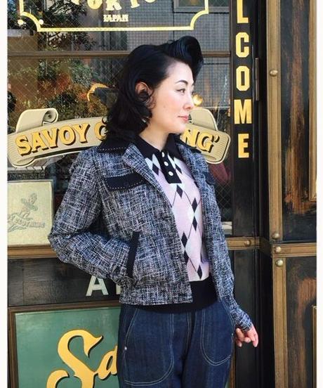 """Kuro-Pin"" Hand Stitch Ladies Jacket【SVY-LJK028】"