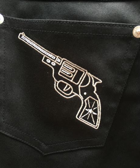 Pistol刺繍 Ladies Slim Pants【SVY-LPT015】