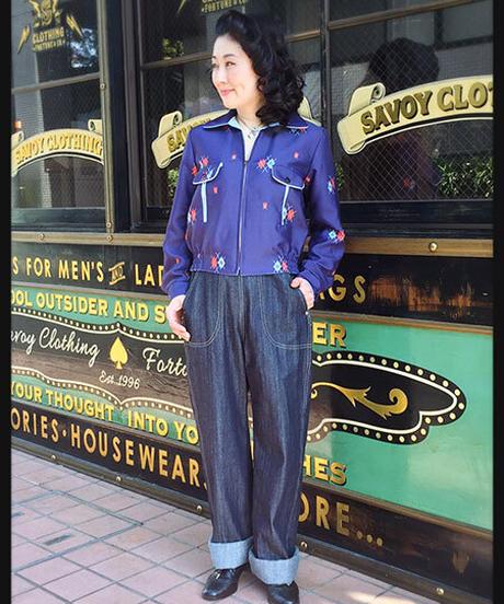 Ladies Denim Ranch Pants【SVY-LPT012S】
