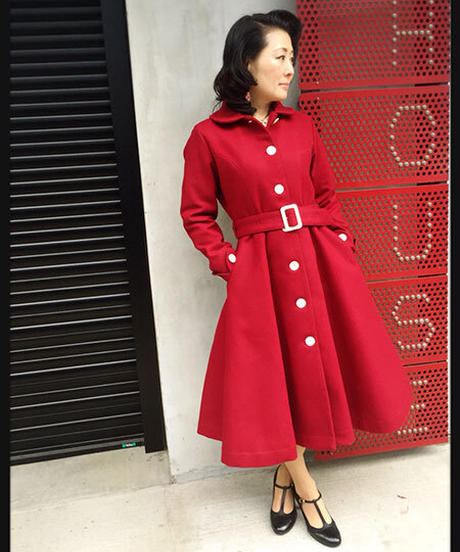 Red Wool Princess Long Coat【SVY-LCT028】