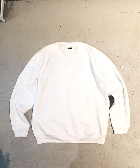 SWEAT PULL-OVER SHIRT / WHITE