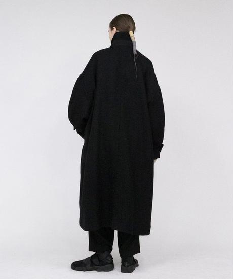 VOAAOV / Soft Wool Twill Long Coat -BLACK-