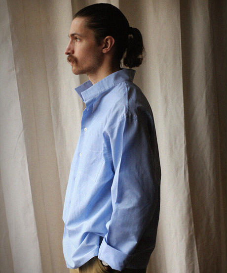 A STATE OF NATURE / ANIELA SHIRT -SKY BLUE NETTLE-