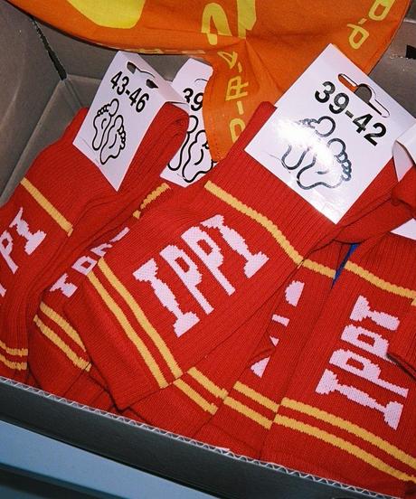 "PUBLIC POSSESSION / ""PP Logo"" Stripe Socks / Stripes"