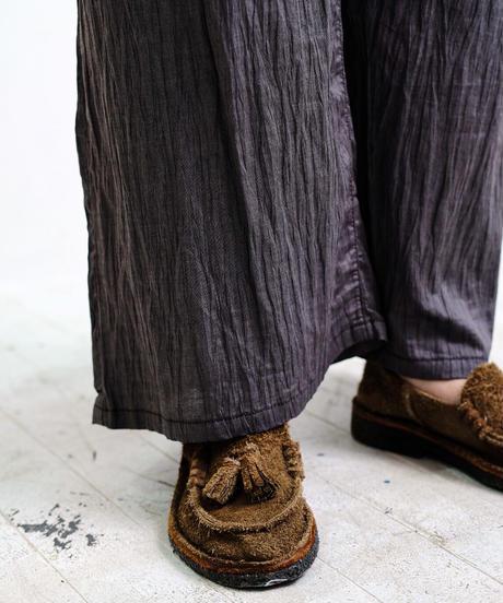 EDWINA HOERL /WIDE PANTS-ELEPHANT DARK-