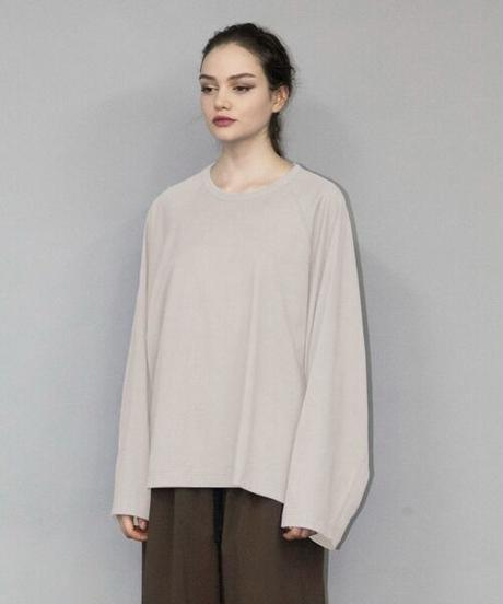my beautiful landlet /BESIC CUT AND SEW RINGER L/S TEE -BEIGE-