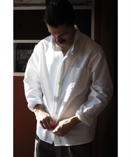 A STATE OF NATURE / AGA SHIRT -OXFORD CLOTH IN WHITE-