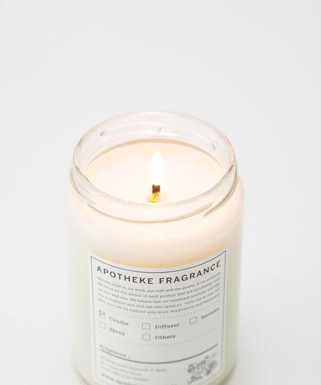 APOTHEKE FRAGRANCE / GLASS JAR CANDLE -OAKMOSS & AMBER