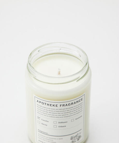 APOTHEKE FRAGRANCE / GLASS JAR CANDLE -FIG-