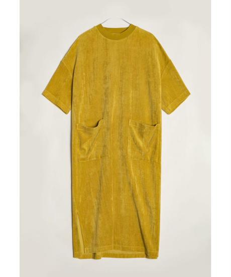 KLOKE / ENGULF TOWELLING DRESS -GOLD-