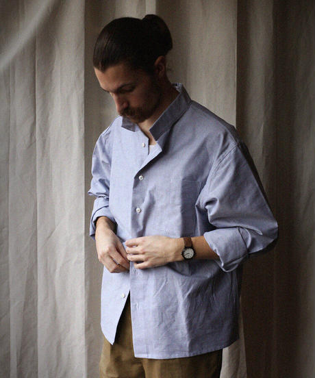 A STATE OF NATURE / ANIELA SHIRT -BLUE OXFORD-