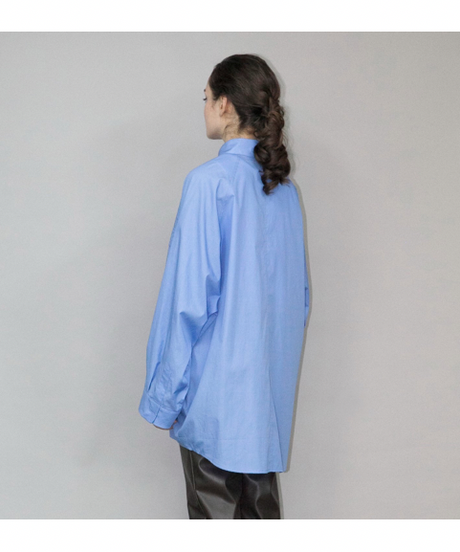 my beautiful landlet / LOOSE DRESS BIG SHIRT -SAX-