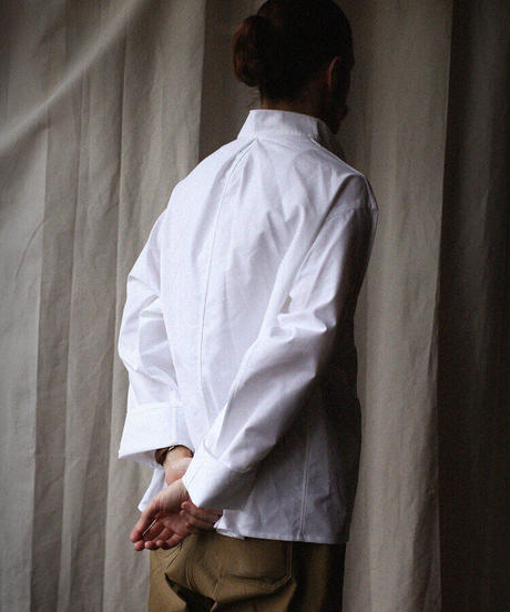 A STATE OF NATURE / ANIELA SHIRT -WHITE OXFORD-