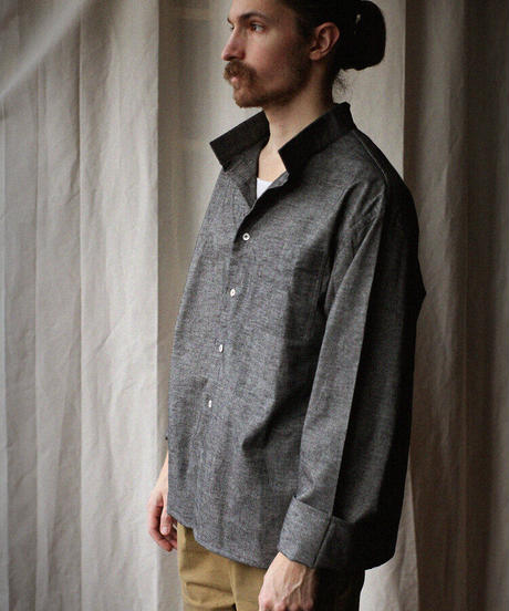 A STATE OF NATURE / ANIELA SHIRT -STONE GREY-