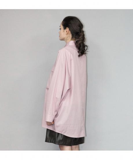 my beautiful landlet / LOOSE DRESS BIG SHIRT -PINK-
