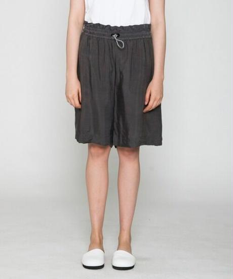 VOAAOV / CUPRO DYED TWILL SHORTS -CHARCOAL-