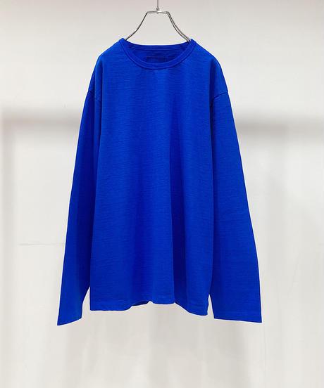 YOKO SAKAMOTO  / L/S T-SHIRT(MATERIAL 02)-BLUE-