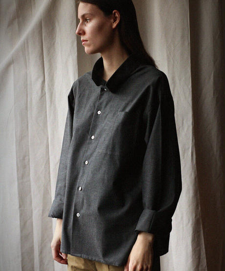 A STATE OF NATURE /ANIELA SHIRT -DOVE GREY-