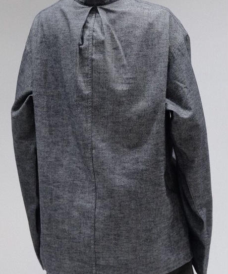 A STATE OF NATURE / JACK SHIRT -SOFT BRUSHED  COTTON  IN  GREY-
