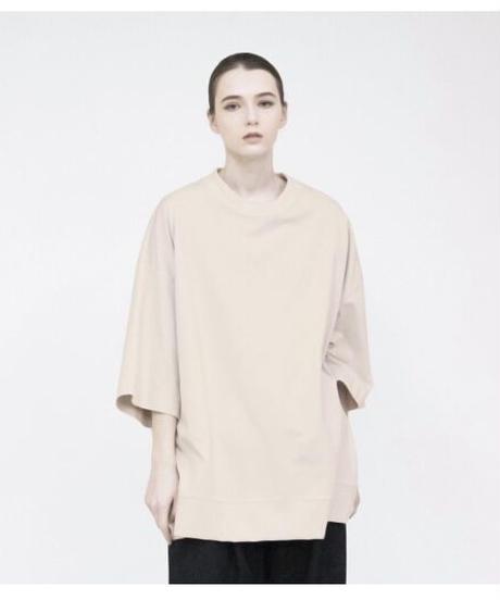 VOAAOV / Seasonless Cotton Jersey BIG TEE -BEIGE-