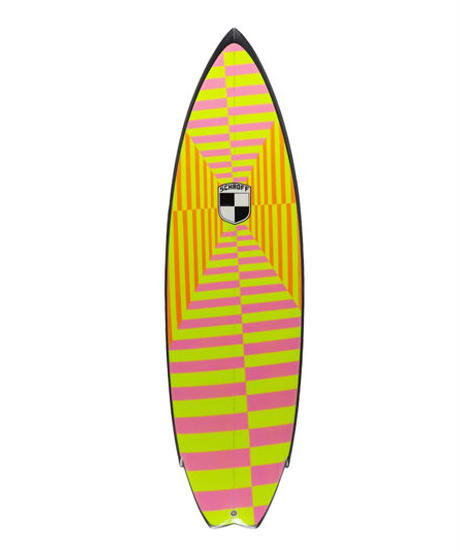 "5'8"" Circa 80's HIGH PERFORMANCE  ""Magret"" Air brushed & Hand shaped by Peter Schroff"