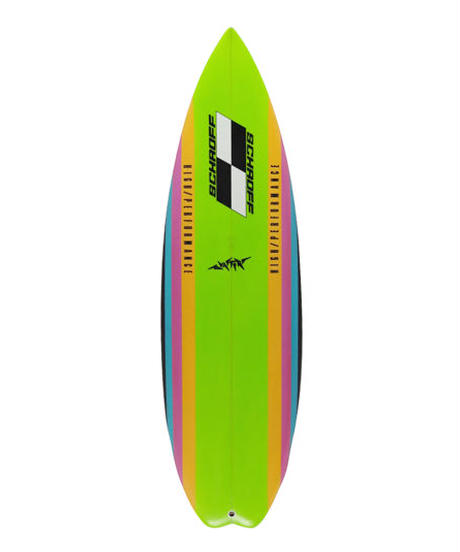 """5'8"""" BLASTER  """"Janet"""" Air brushed & Hand shaped by Peter Schroff"""