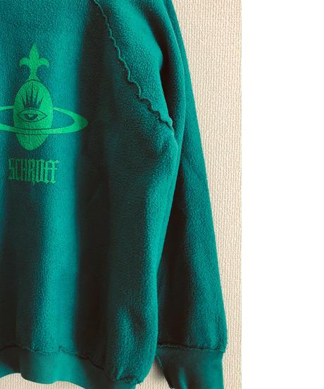 Vintage raglan sweat shirts    lt green