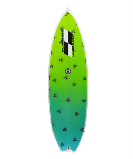"5'11""  HIGH  PERFORMANCE  ""Ginger"" Air brushed & Hand shaped by Peter Schroff"