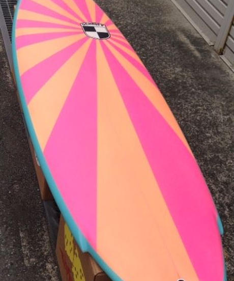 """6'2""""  HIGH  PERFORMANCE  """"Peny"""" Air brushed & Hand shaped by Peter Schroff"""