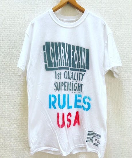 "Stenciled Tee shirts "" RULES USA "" Limited"