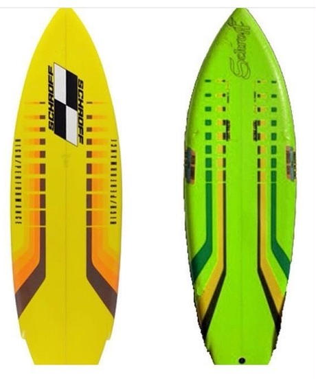 """5'6""""  HIGH  PERFORMANCE   """"Shelly"""" Air brushed & Hand shaped by Peter Schroff"""