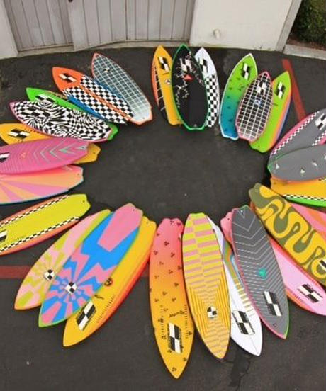 """5'11"""" Circa 80's HIGH PERFORMANCE  """"Sally"""" Air brushed & Hand shaped by Peter Schroff"""