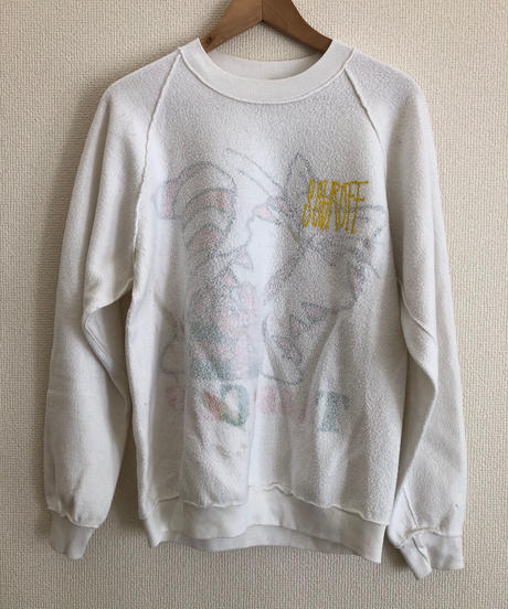 VINTAGE RAGLAN SWEAT SHIRTS     White